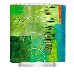 Green And Red 5 Shower Curtain by Jane Davies