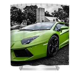 Green Aventador Shower Curtain