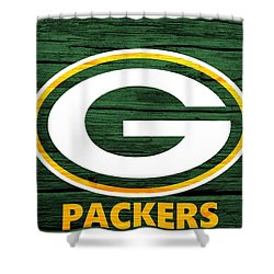 Green Bay Packers Barn Door Shower Curtain