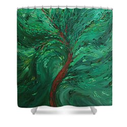 Green Bliss Shower Curtain