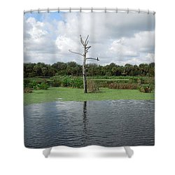 Shower Curtain featuring the photograph Green Cay Panorama by Ron Davidson