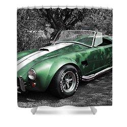 Green Cobra Shower Curtain