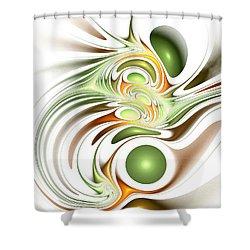 Green Creation Shower Curtain by Anastasiya Malakhova