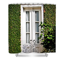 Shower Curtain featuring the photograph Green Doorway by Jean Haynes