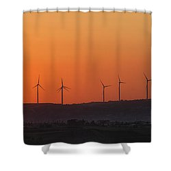 Green Energy Shower Curtain by Stelios Kleanthous