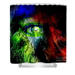 Green Eyed Shower Curtain
