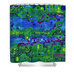Green Functions Shower Curtain by Regina Valluzzi