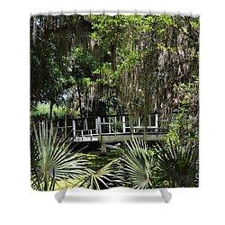 Green Gardens At Magnolia Plantation Shower Curtain