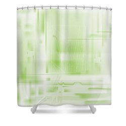 Green Ghost City Shower Curtain