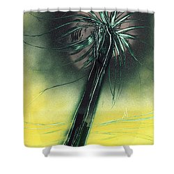 Shower Curtain featuring the painting Green Giant by Jason Girard