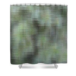 Green Glass Shower Curtain by Oksana Semenchenko
