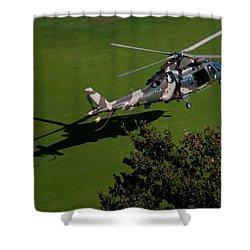 Green Grass Landing  Shower Curtain by Paul Job