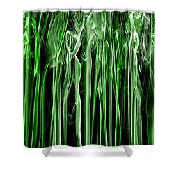Green Grass Smoke Photography Shower Curtain
