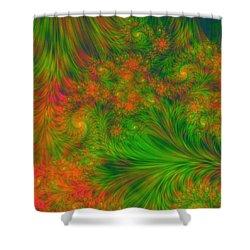 Shower Curtain featuring the digital art Green Green Grass Of Home by Svetlana Nikolova