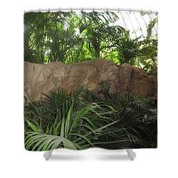 Shower Curtain featuring the photograph Green Interiors Vegas Casinos Resorts Hotels by Navin Joshi