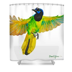 Da175 Green Jay By Daniel Adams Shower Curtain