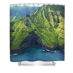 Green Kauai Cavern Shower Curtain by Kicka Witte