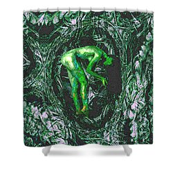Gaia Earthly Goddess Nymph Farie Mother Earth Fine Art Print Shower Curtain by David Mckinney