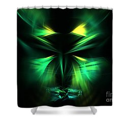 Green Man Shower Curtain