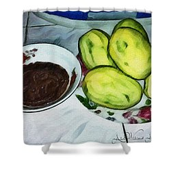 Green Mangoes Shower Curtain