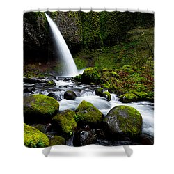Green Mile Shower Curtain by Chad Dutson