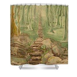 Green Mist Shower Curtain