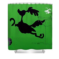 Green Palm Springs Idyll Shower Curtain