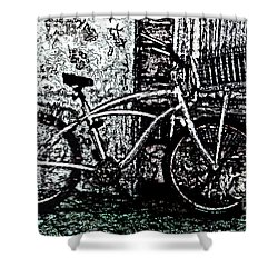Green Park Way Shower Curtain by Ecinja Art Works
