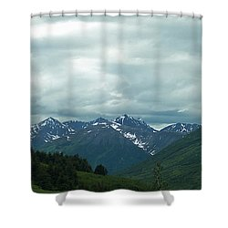 Green Pastures And Mountain Views Shower Curtain by Aimee L Maher Photography and Art Visit ALMGallerydotcom