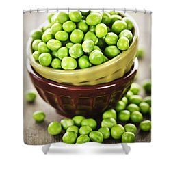Green Peas Shower Curtain by Elena Elisseeva