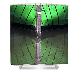 Green Reflection Shower Curtain by Heiko Koehrer-Wagner