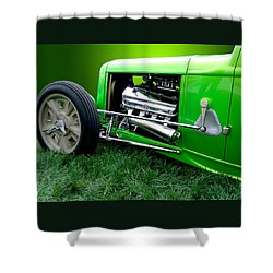 Green Rod Shower Curtain