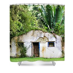 Green Roof Shower Curtain by Menachem Ganon