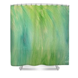 Green Shades Shower Curtain by Barbara Yearty