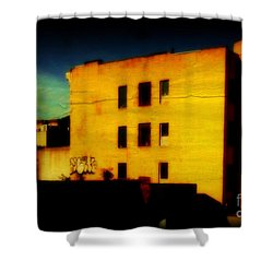 Shower Curtain featuring the photograph Green Sky by Miriam Danar