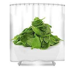 Green Spinach Shower Curtain by Elena Elisseeva