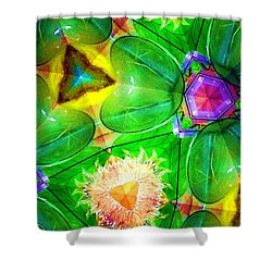 Green Thing 2 Abstract Shower Curtain
