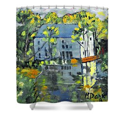 Green Township Mill House Shower Curtain by Michael Daniels
