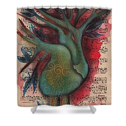 Green Tree Of Life Shower Curtain