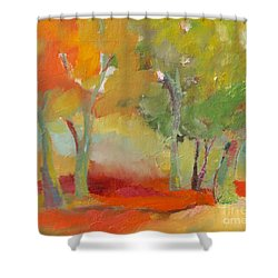 Green Trees Shower Curtain