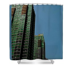 Green Vancouver Towers Shower Curtain