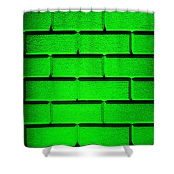 Green Wall Shower Curtain by Semmick Photo