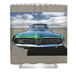 Green With Envy - 68 Mercury Shower Curtain