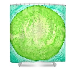 Green World Original Painting Shower Curtain