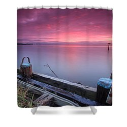 Greenbury Point Sunrise Shower Curtain