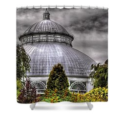Greenhouse - The Observatory Shower Curtain by Mike Savad