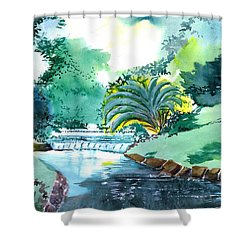 Greens 1 Shower Curtain by Anil Nene