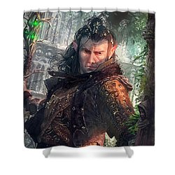 Greenside Watcher Shower Curtain by Ryan Barger