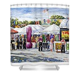 Greenwich Art Fair Shower Curtain by Alexandra Maria Ethlyn Cheshire