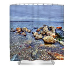 Shower Curtain featuring the photograph Greenwich Bay by Alex Grichenko
